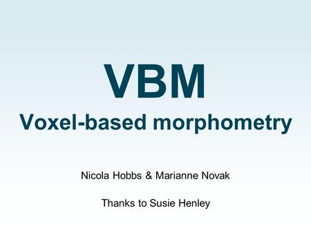 VBM Voxel-based morphometry