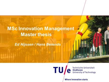 Course Title: Innovation Service Management Masters Thesis 2