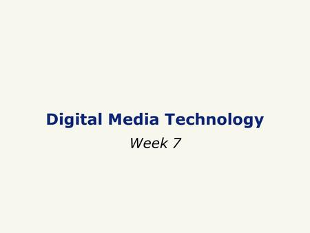 Digital Media Technology Week 7. □ Database □ DBMS □ Data vs. Information □ Data redundancy □ Tables, Rows, Columns, Records, Fields □ Relational data.