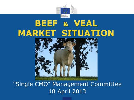 BEEF & VEAL MARKET SITUATION Single CMO Management Committee 18 April 2013.