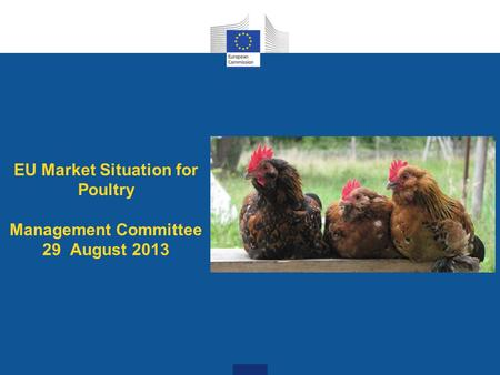 EU Market Situation for Poultry Management Committee 29 August 2013.