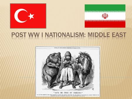  The Ottoman Empire was one of the premier countries in the Middle East by the end of the 18 th Century  However by the beginning of the 19 th Century.