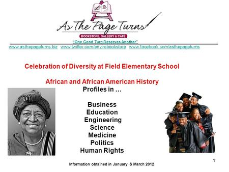 Celebration of Diversity at Field Elementary School