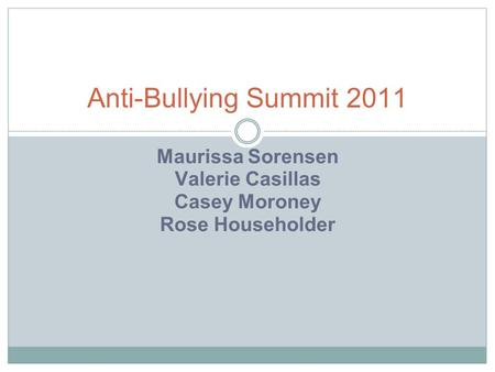 Maurissa Sorensen Valerie Casillas Casey Moroney Rose Householder Anti-Bullying Summit 2011.