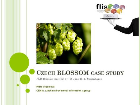 C ZECH BLOSSOM CASE STUDY FLIS Blossom meeting 17 –18 June 2013, Copenhagen Klára Vočadlová CENIA, czech environmental information agency.