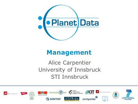 Management Alice Carpentier University of Innsbruck STI Innsbruck.
