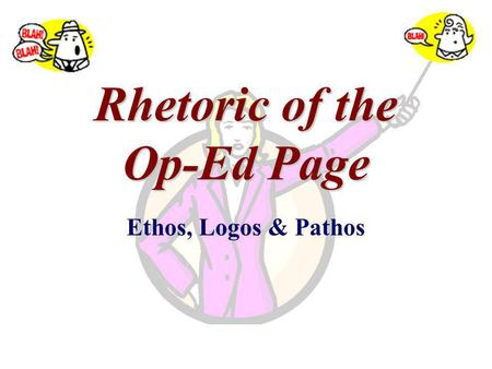 Rhetoric of the Op-Ed Page