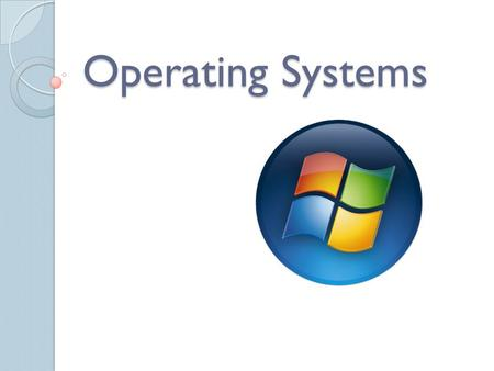 Operating Systems. Operating System (OS) The software that manages the sharing of the resources of a computer. Examples of Operating Systems ◦ Windows.