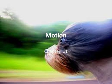 Motion Chapter 11. Standards Students will: SPS8. Determine the relationship between force, mass and motion SPS8a Calculate velocity and acceleration.