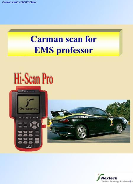 Carman scanFor EMS PROfesor 1 Carman scan for EMS professor.