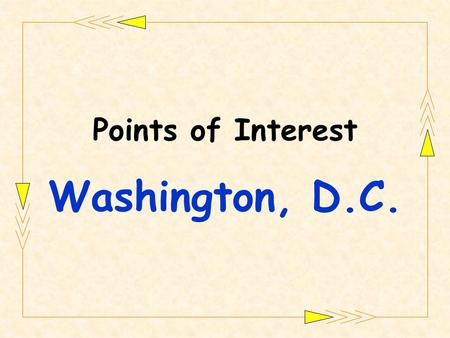Points of Interest Washington, D.C.. Jefferson Memorial.