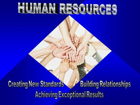Human Resources Mission Statement To create and deliver exemplary and innovative Human Resource and Risk Management services, processes, and solutions.