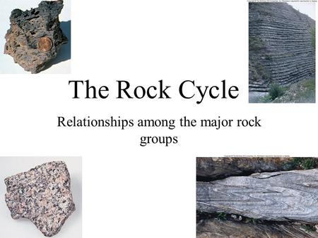Relationships among the major rock groups