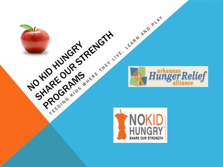 NO KID HUNGRY SHARE OUR STRENGTH PROGRAMS FEEDING KIDS WHERE THEY LIVE, LEARN AND PLAY.