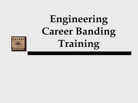 Engineering Career Banding Training. Training Agenda I.Career Banding Overview II.Introduction of Bands III.Competency Based Pay.