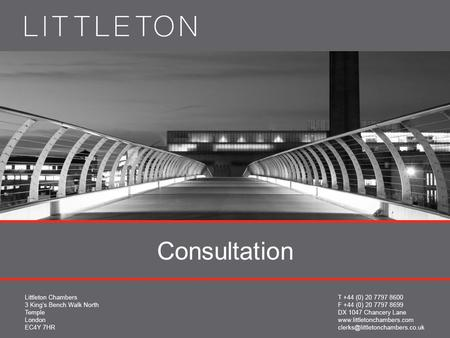 Consultation. Damian Brown QC 02077978600 Collective Redundancy Consultation: Past, present and Future.
