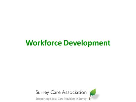 Workforce Development. SCA Training Programme update Core, specialist and management short courses 2011-12: 139 courses with 2,143 places 2012-13: 123.