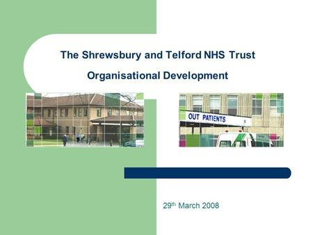 The Shrewsbury and Telford NHS Trust Organisational Development 29 th March 2008.