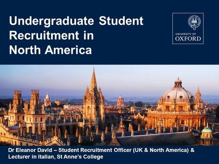 Undergraduate Student Recruitment in