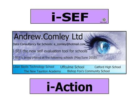 Introducing the most comprehensive ICT based self evaluation framework available. Designed around the section 5 Ofsted framework, the i-sef is a powerful.