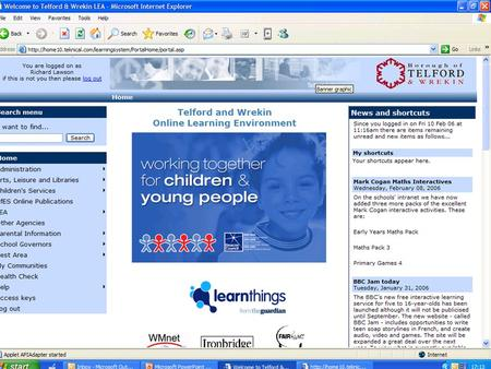 An Infant School Online Learning Environment Simple, easy to edit.