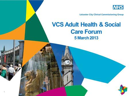 1 VCS Adult Health & Social Care Forum 5 March 2013.