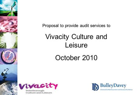 Proposal to provide audit services to Vivacity Culture and Leisure October 2010.