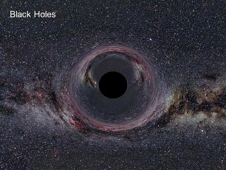 Black Holes. Underlying principles of General Relativity The Equivalence Principle No difference between a steady acceleration and a gravitational field.