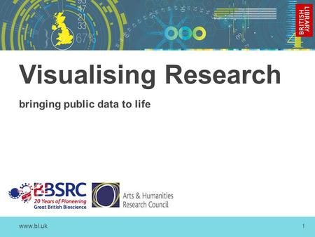 Www.bl.uk 1 Visualising Research bringing public data to life.