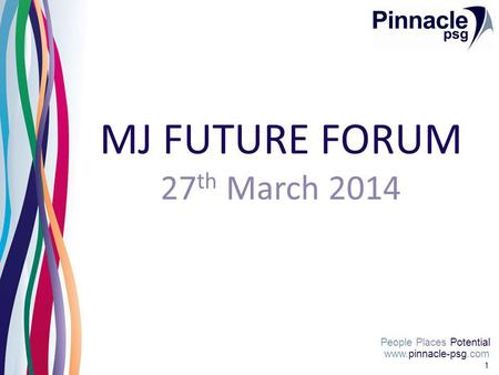 Www.pinnacle-psg.com People Places Potential 1 MJ FUTURE FORUM 27 th March 2014.