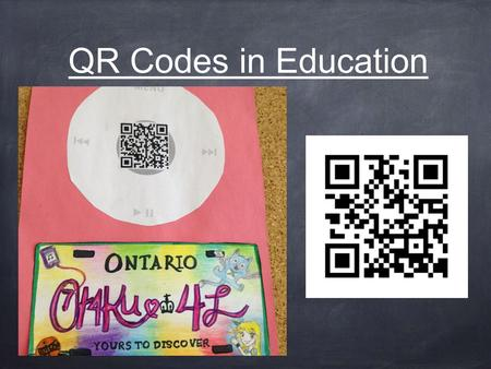 QR Codes in Education. What is a QR code? A Quick Response Code is a digital image that can be readily scanned by smartphone users for free via one of.