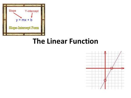 The Linear Function.