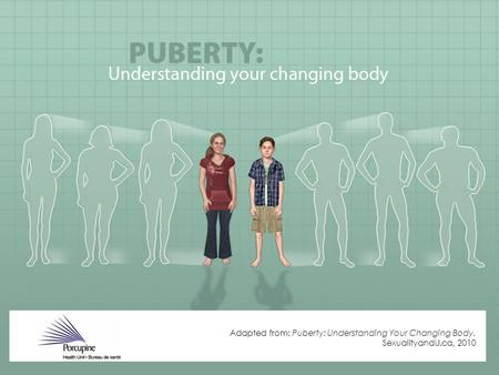 Adapted from: Puberty: Understanding Your Changing Body. SexualityandU.ca, 2010.