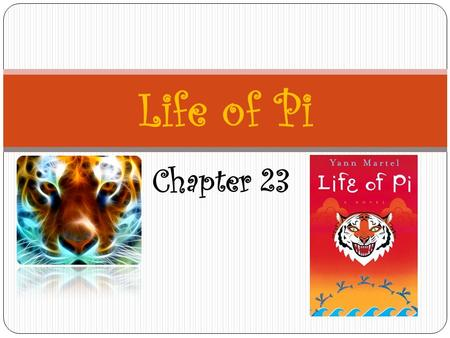 "Chapter 23 Life of Pi. Summary – Chapter 23 Pi and his parents meet the ""three wise men""—the pandit, priest, and imam—after Pi has decided to practice."