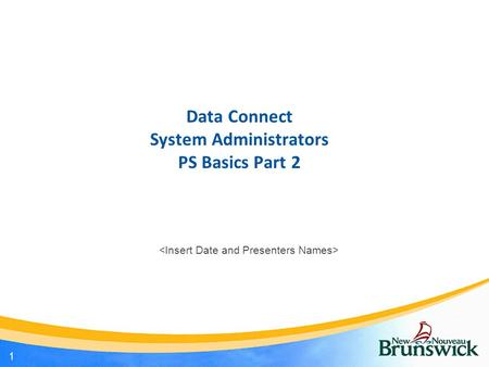 Data Connect System Administrators PS Basics Part 2 1.
