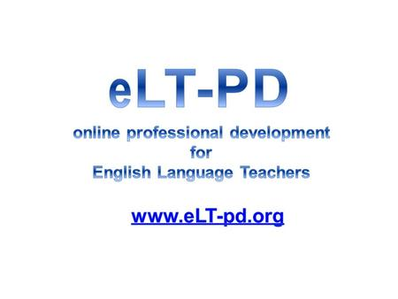 Our Team Adriana del Paso is president and CEO of eLT-PD. She is a best selling EFL textbook author, has given workshops worldwide, and has over 30 years.
