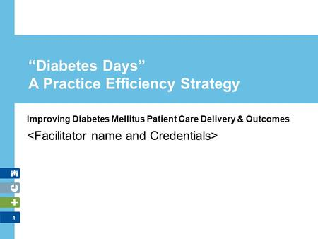 "1 ""Diabetes Days"" A Practice Efficiency Strategy Improving Diabetes Mellitus Patient Care Delivery & Outcomes."