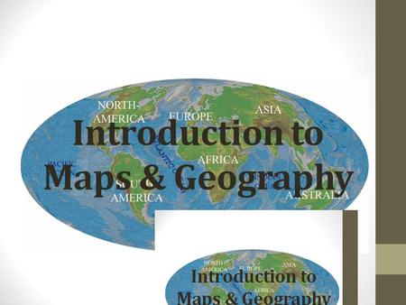 Introduction to Maps & Geography. Hemispheres: Latitude: Latitude lines are imaginary lines on the earth's surface. They run east and west around the.