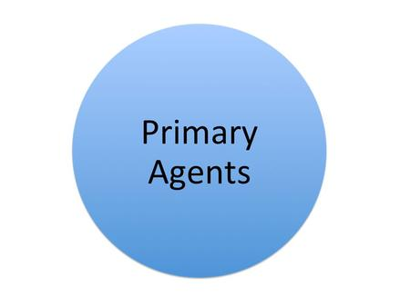 PRIMARY AGENTS Primary agents include parents and family, peers, schools, religion and media. Parents and families are one of the most powerful.