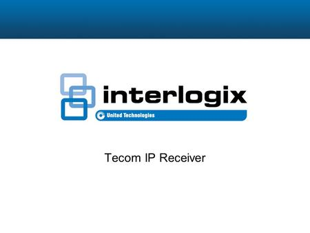 Tecom IP Receiver. Overview The Tecom IP Receiver is a server which provides a cost-effective and secure method to monitor Challenger panels over IP networks.