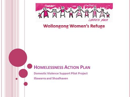 H OMELESSNESS A CTION P LAN Domestic Violence Support Pilot Project Illawarra and Shoalhaven.
