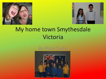 My home town Smythesdale Victoria By Khloe Tuohy.
