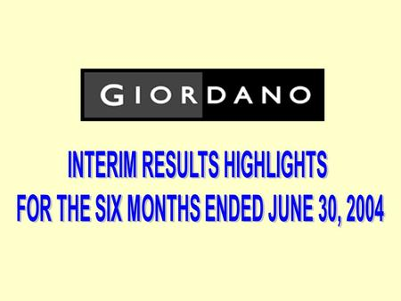 2 Group Financial Highlights For the Six Months Ended June 30 YOY change (%) 20042003 Turnover (HK$M)1,8581,527 21.7 Gross profit (HK$M)929710 30.8 EBITDA.