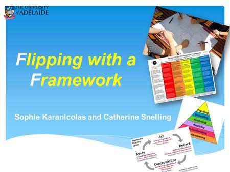 Flipping with a Framework Sophie Karanicolas and Catherine Snelling.