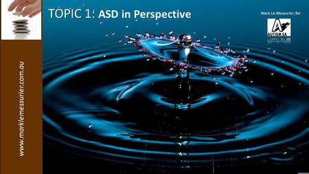 Www.marklemessurier.com.au TOPIC 1: TOPIC 1: ASD in Perspective Mark Le Messurier, for.