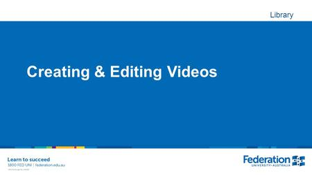 Library Creating & Editing Videos. Screen capture Adobe Captivate – trial & education price Techsmith Camtasia – trial & education price Free! Screen.