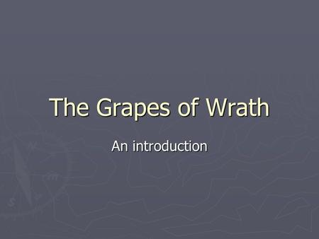 "The Grapes of Wrath An introduction. ""The Harvest Gypsies"" ► Seven newspaper articles on migrant workers Steinbeck observed in 1936. ► An eyewitness account."
