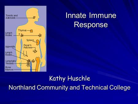 Innate Immune Response Kathy Huschle Northland Community and Technical College.