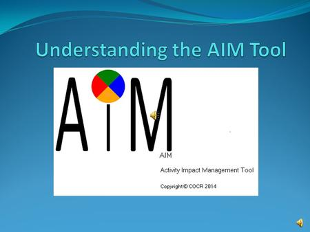 AIM Activity Impact Measurement Organizational Mission Projects and Activities What's the Connection?