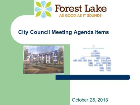 City Council Meeting Agenda Items October 28, 2013.